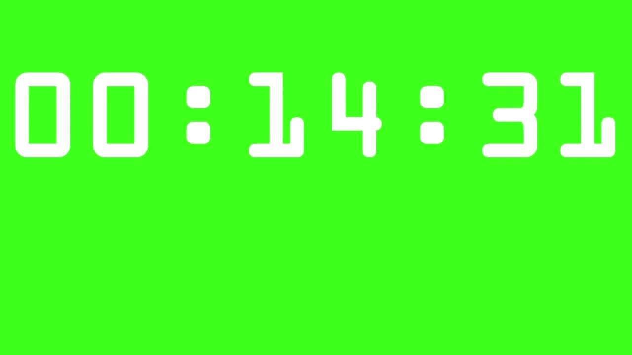15 minutes timer    countdown  u2013 green screen