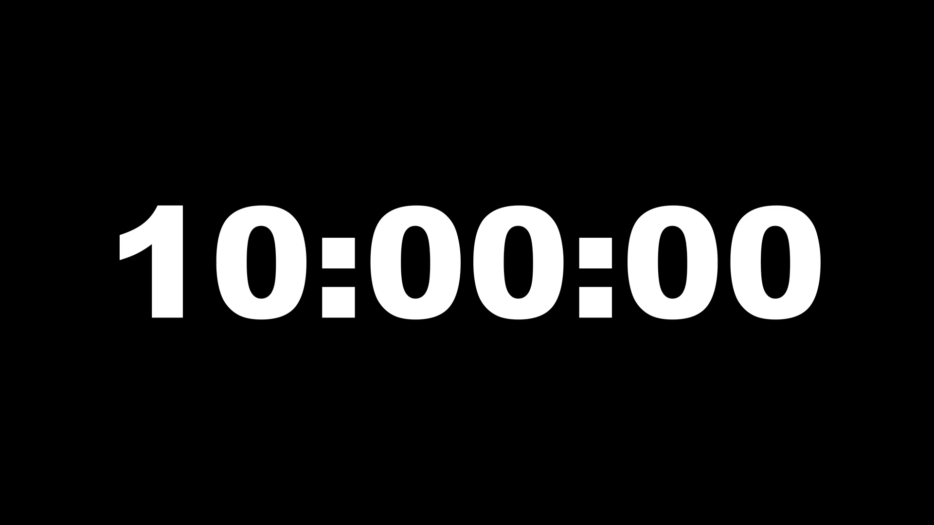 10 Minutes Countdown Timer Free Stock Footage Archive
